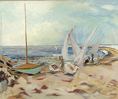 Eliane DIVERLY (née en 1914). Pliage des voiles.