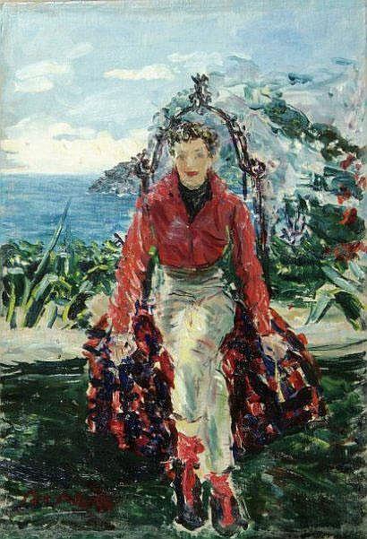 Dimitri de BEREA (1908-1975). Jeune femme assise.