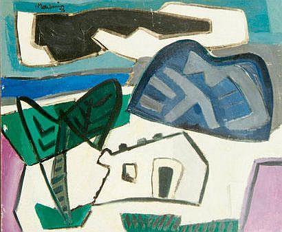 Francis MONTANIER (1895-1974) Place de village