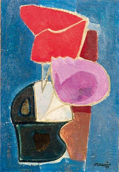 Francis MONTANIER (1895-1974) Composition au