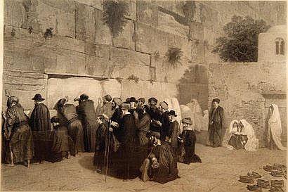 Judaica: D'après Alexandre BIDA (1823-1895) Le mur