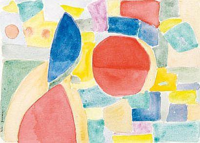Louis FERRAND (1902-1983) Composition. Aquarelle,