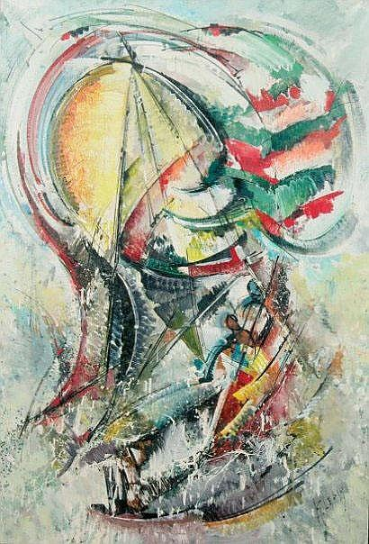 Roger LERSY (né en 1920) Composition abstraite