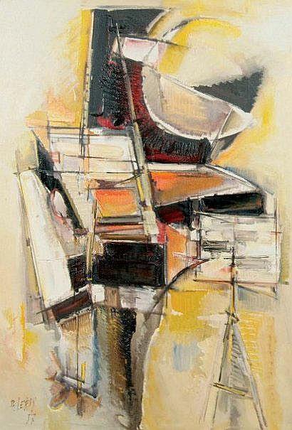 Roger LERSY (né en 1920) Grand piano Huile sur