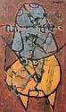 Arun BOSE (indien né en 1934) A dos de taureau,, Arun Bose, Click for value