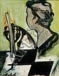 Edgar STOEBEL (1909-2001) L'échiquier Huile sur, Edgar Stoëbel, Click for value