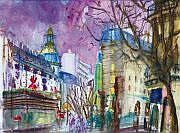 Daniel FISHER (Né en 1958) Paysage parisien