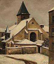 JeanRobert ITHIER (Né en 1904) L'église sous la