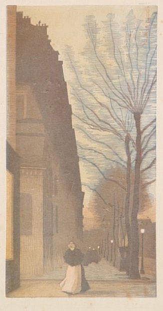 Amédée Joyau (1872-1913) Avenue de Villiers. 1900.