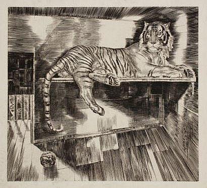 Albert Decaris (1901-1988) Sujets divers : Tigre ;