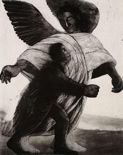 Richard Davies (1945-1991) Tobie et l'ange.