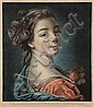 Louis-Marin Bonnet (1743-1793) Tête de femme., Louis-Marin Bonnet, Click for value