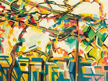 Jacques LAGRANGE (1917-1995) La terrasse, 1957