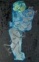 Arun BOSE (1934-2007) La vie en bleu Huile sur, Arun Bose, Click for value