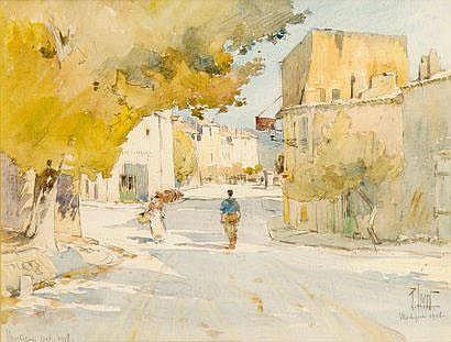 René LEVERD (1872-1938). Martigues, 1918.