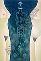 Dimitri YORDANOV (Né en 1926). Le chevalier et les, Dimitri Yordanov, Click for value