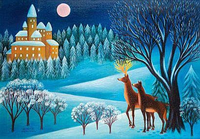 Dimitri YORDANOV (Né en 1926). Nuit de Noël aux