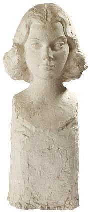 Hubert YENCESSE (1900-1987) Buste de Geneviève
