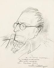 André COLLOT (1897-1976) Sacha Guitry. Dessin à la