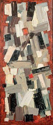 Jean SIGNOVERT (1919-1981) Composition abstraite.