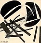 Edgard PILLET (1912-1996) Idéogramme. Collage et, Edgard Pillet, Click for value