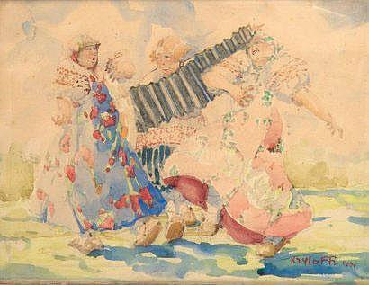 Boris KRYLOFF (1891-1977) [Russe] Danseuses