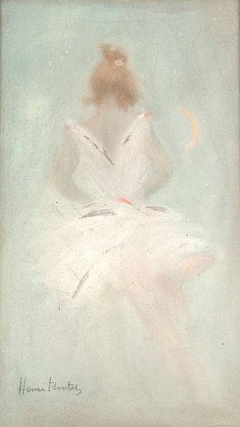 Henri BOUTET (1851-1919) Danseuse de dos Pastel