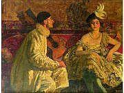 LAURENS Paul-Albert (1870-1934) Pierrot et jeune