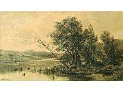 ALLONGE Auguste (1883-1898) Bords de rivière