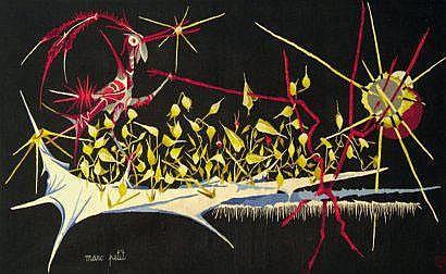 Marc PETIT (né en 1930) Oiseau fantastique.