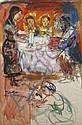 Walter SPITZER (né en 1927) Le Shabbat en famille, Walter Spitzer, Click for value
