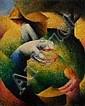 Félix TOBEEN (1880-1938) Les vendanges, vers 1914
