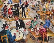 Lucien GENIN (1894-1958) Trio au cabaret Huile sur