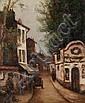 Léon WEISSBERG (1894-1943) La Rue Huile sur toile.