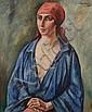 Simon MONDZAIN (1890-1979) Portrait de femme au, Simon Mondzain, Click for value
