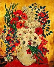 Alix AYME (1894-1989) Bouquet de fleurs Peinture