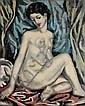Sei KOYANAGUI [japonais] (1896-1948) Nu assis