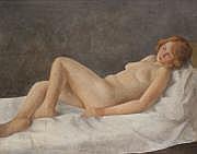 Othon COUBINE [tchécoslovaque] (1883-1969) Nu