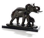 Irénée ROCHARD (1906-1984) Eléphant et son petit