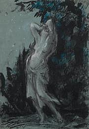 Jules Grandjouan (1875-1968) Isadora la nuit