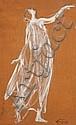 Jules Grandjouan (1875-1968) Isadora posant Huile