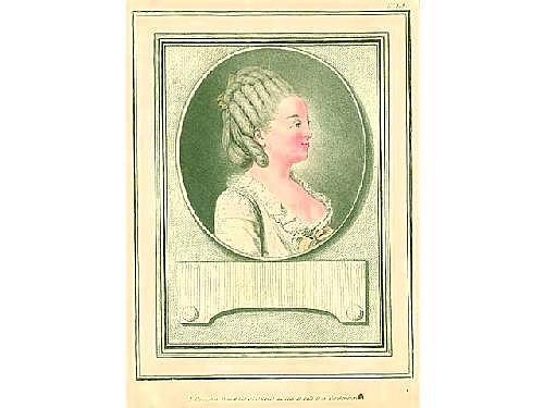 Louis-Marin Bonnet (1736-1793). Mlle Duval, danseu