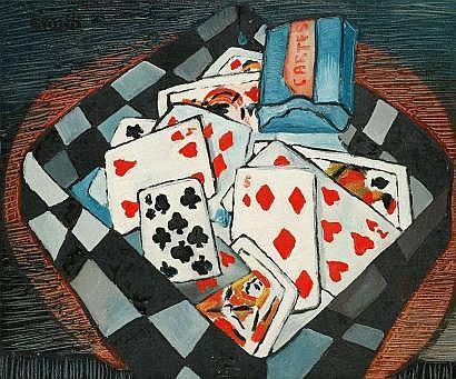 Raymond ABNER (1924-1999) Jeu de cartes, 1951