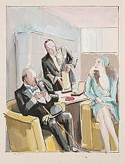 Pierre de BELAY (1890-1947) Chez le bijoutier