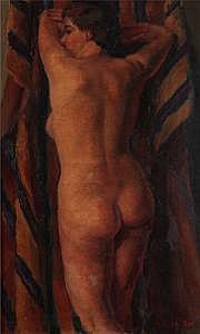 Louis RIOU (1893-1958) Femme nue étendue Huile sur