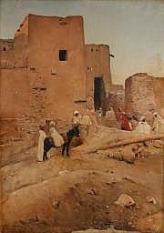 Maurice BOMPARD (1857-1936) Oasis de Chebma près