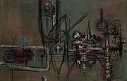 Jerzy KUJAWSKI (1921-1998) Composition abstraite