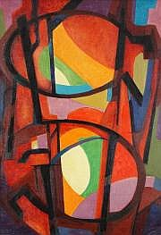 Marius Honoré BERARD Composition abstraite, 1946