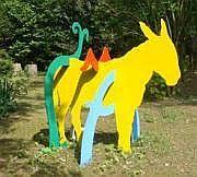 Patrick Moya (né en 1955) Ane Sculpture en métal
