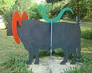 Patrick Moya (né en 1955) Taureau Sculpture en